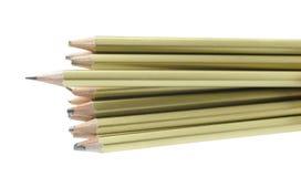 全部残破的铅笔 免版税库存图片