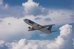 全部波兰航空公司波音737-45D 库存图片