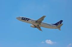 全部波兰航空公司波音737-45D 免版税库存图片