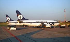 全部波兰航空公司 免版税库存图片