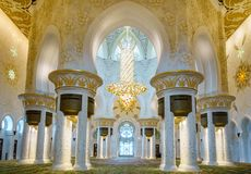 全部清真寺回教族长zayed 图库摄影