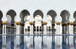 全部清真寺回教族长zayed 库存照片