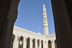 全部清真寺麝香葡萄阿曼qaboos苏丹 免版税图库摄影