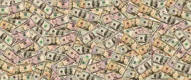 全部现金美元在背景中 库存照片