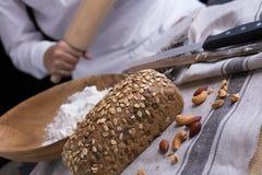 全部的做面包的粮谷 免版税图库摄影