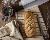 全部的做面包的粮谷 图库摄影