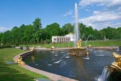全部级联 Peterhof宫殿 库存照片