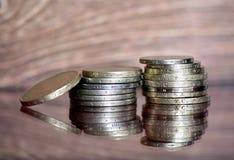 全部老可贵的硬币 库存图片