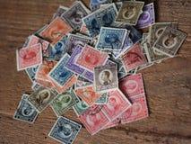 全部老被烙记的邮票 免版税图库摄影
