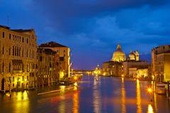 全部运河的夜间 图库摄影