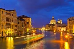 全部运河的夜间 库存照片