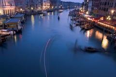 全部运河的黄昏 免版税库存图片