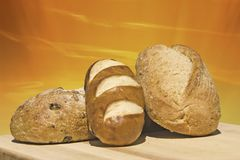 全部面包新鲜的谷物 免版税库存图片