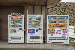 全部饮料的类型与自动售货机的 库存图片
