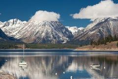 全部鹪鹩湖国家公园teton 免版税库存图片