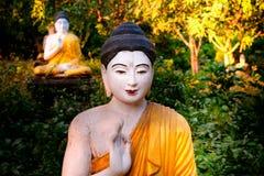 全部Buddhas雕象在Loumani菩萨庭院 Hpa-An,缅甸B 库存照片