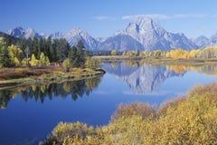 全部Teton国家公园在秋天, 图库摄影