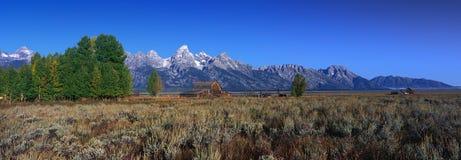 全部Teton国家公园, WY 免版税库存图片
