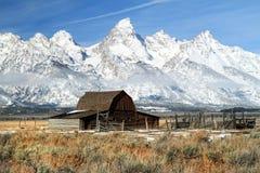 全部Teton图标式的谷仓 免版税库存图片