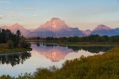 全部Teton范围的反映 免版税图库摄影