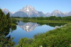 全部Tetons湖反映 免版税库存图片