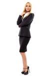 全长的女实业家 免版税图库摄影