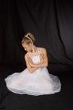 全长的跳芭蕾舞者 免版税图库摄影
