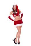 全长纵向性感的圣诞老人 图库摄影