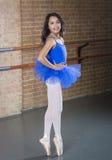 全长美丽的少年芭蕾舞女演员的舞蹈家 图库摄影
