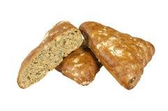 全麦小圆面包 免版税库存照片
