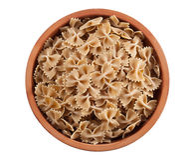 全麦的farfalle意大利人意大利面食 免版税库存图片