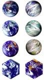 八个世界 库存例证