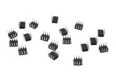 八个线索微芯片 图库摄影