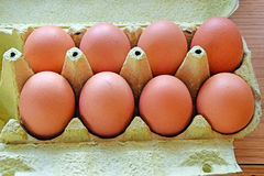 八个鸡蛋 免版税库存照片