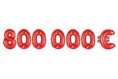 八十万欧元,红颜色 免版税库存照片