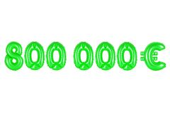 八十万欧元,绿色 库存照片