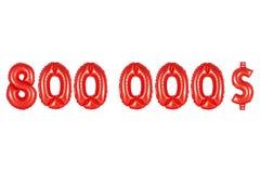 八十万美元,红颜色 库存图片