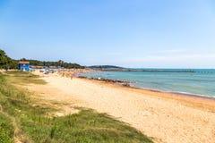 八大关海滩,青岛,中国 免版税库存照片