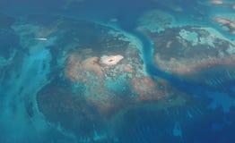 八字加勒比瓜德罗普岛小岛 图库摄影