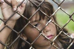 八岁学校女孩 免版税库存照片