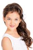 八岁的女孩 免版税图库摄影