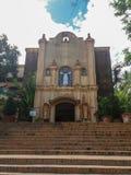 八打雁省的,菲律宾卡莱鲁埃加教会 免版税库存图片