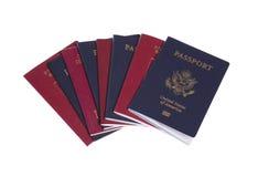八本护照 免版税库存图片