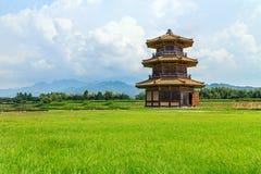 八角型鼓塔(Kikuchi城堡A零件) 免版税图库摄影