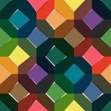 八角形物无缝的五颜六色的样式 免版税库存照片