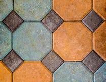 八角形物铺路石 库存图片