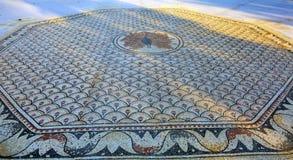八角形物马赛克彼得` s议院加利利海Capernaum以色列 库存图片
