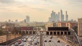 八高速公路在莫斯科,俄罗斯 库存图片
