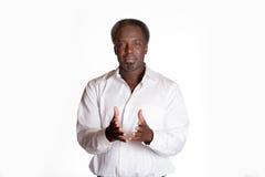 公上司非裔美国人的画象  免版税图库摄影