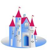 公主城堡例证 库存照片